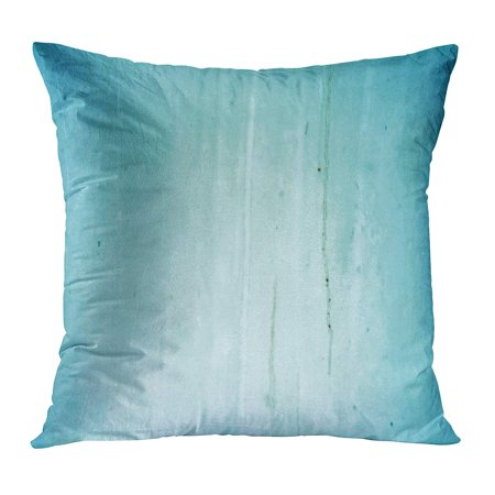 BOSDECO Blue Abstract Old Grungy and Dirty Glass Orange Ancient Color Corroded Corrosion Cyan Pillowcase Pillow Cover Cushion Case 20x20 inch - image 1 of 1