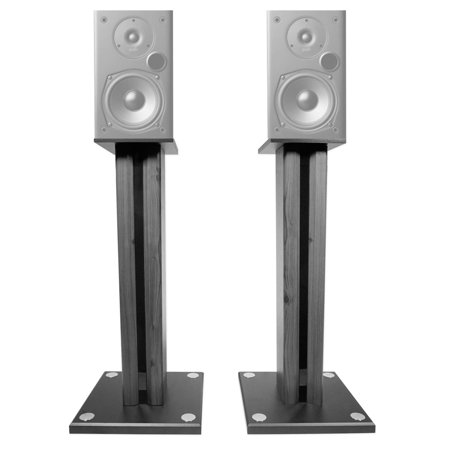 Pair 26 Bookshelf Speaker Stands For Polk Audio T15 Speakers