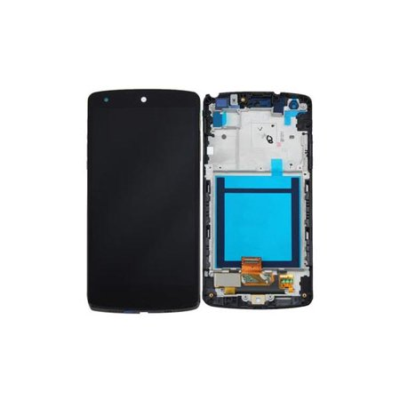 LCD and Digitizer Touch Screen Replacement Assembly with Frame Compatible  with LG Nexus 5 - Black