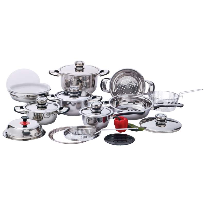 Chef's Secret 22pc 12-Element, High-Quality, Heavy-Duty Stainless Steel Cookware Set by Supplier Generic