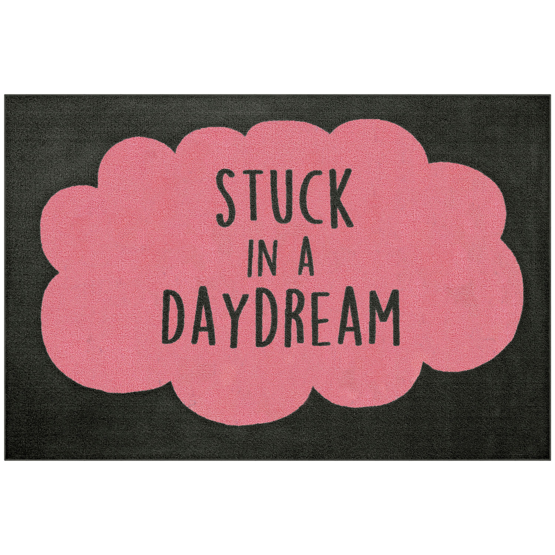 "Mainstays Stuck in a Daydream Loop Pile Script Print 3'x4"" x 5' Room Rug, Multiple Colors"
