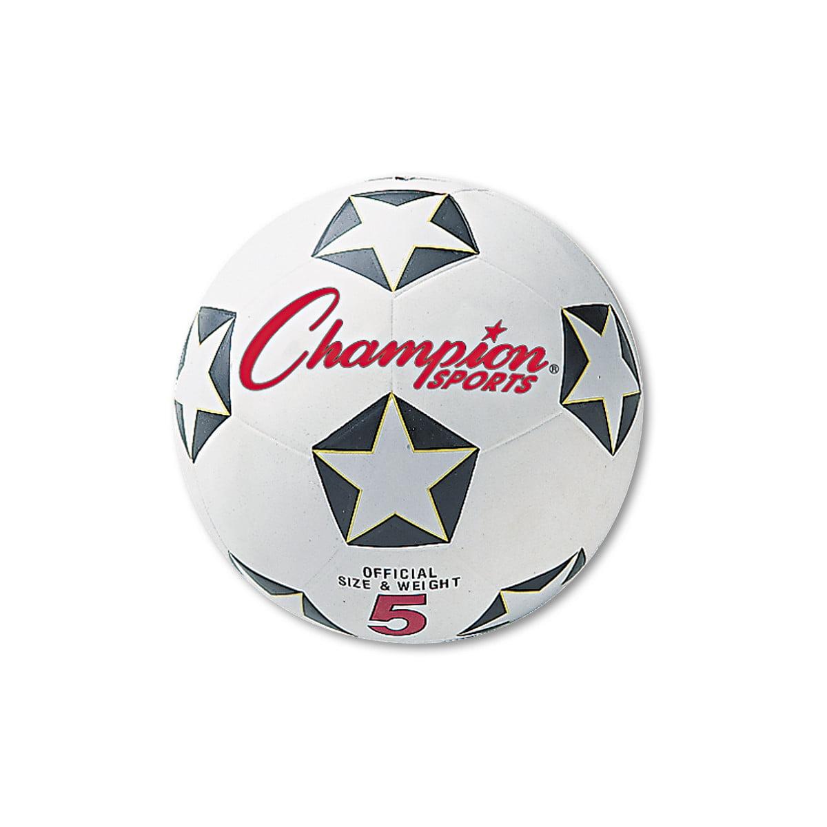 Champion Sports Rubber Sports Ball, For Soccer, No. 4, White/Black