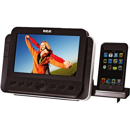 RCA iPod/iPhone Dual Alarm Clock Radio w/ Docking Station and 7