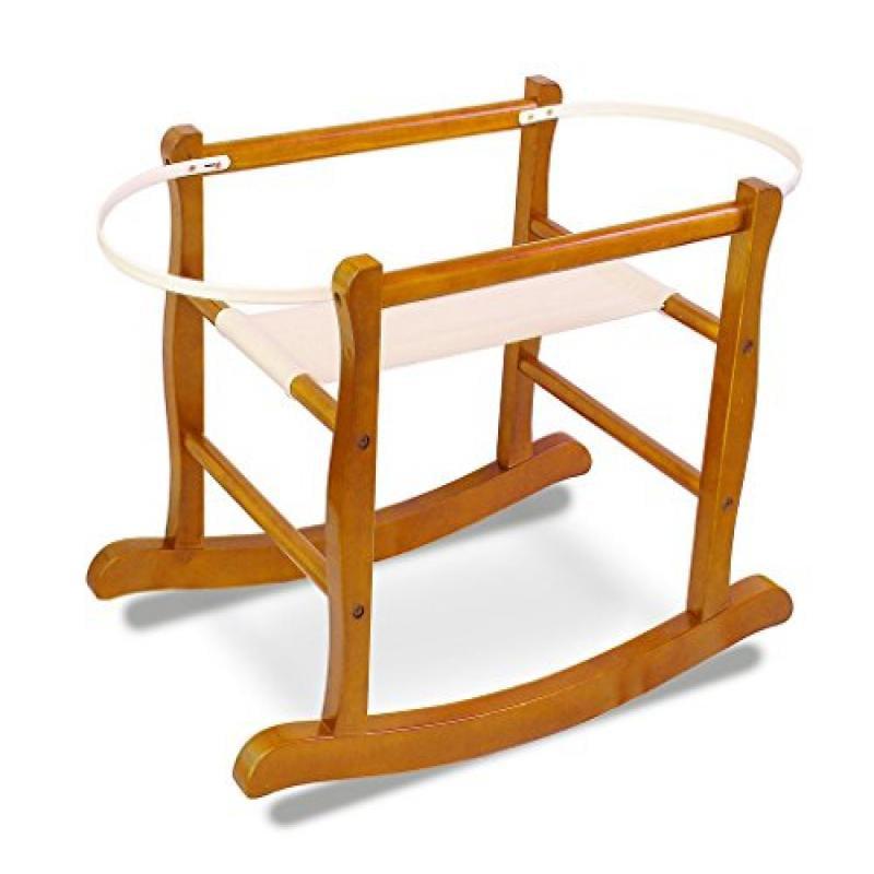jolly-jumper Deluxe Rocking Basket Stand - Cognac