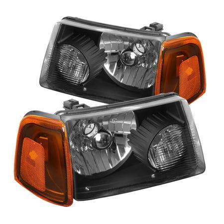 Spec-D Tuning 2001-2011 Ford Ranger Black Head Lights + Corner Lights + Bumper Lights Signal Lamps Black 2001 2002 2003 2004 2005 2006 2007 2008 2009 2010 2011 (Left + Right)