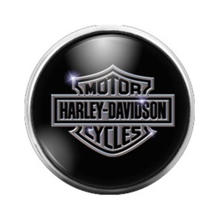 Harley Davidson - 18MM Glass Dome Candy Snap Charm GD0093