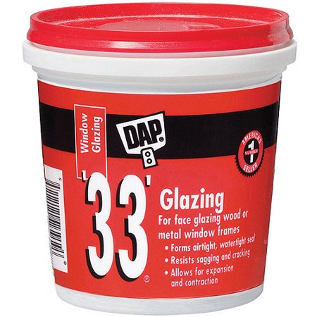 Dap 12121 1-Pint 33 Glazing Compound White Pint