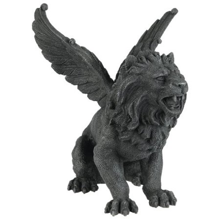 6.5 Inch Resin Medieval Winged Lion Gargoyle Statue Figurine