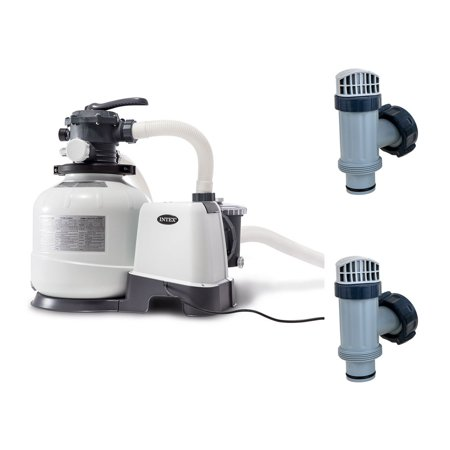 Image of Intex 2800 GPH Above Ground Pool Sand Filter Pump w/ Plunger Valves Parts (Pair)