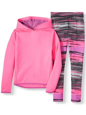 Cheetah Star Print Performance Fleece Hoodie and Legging, 2-Piece Active Set (Little Girls & Big Girls)