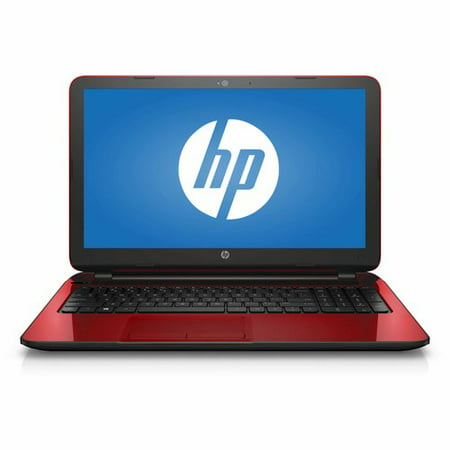 "HP Flyer Red 15.6"" 15-f272wm Laptop PC with Intel Pentium N3540 Processor, 4"