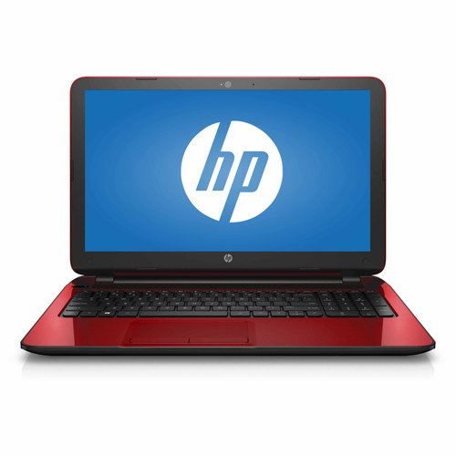 "HP Flyer Red 15.6"" 15-f272wm Laptop PC with Intel Pentium N3540 Processor, 4GB Memory, 500GB Hard Drive and Windows 10 Home, Refurbished"
