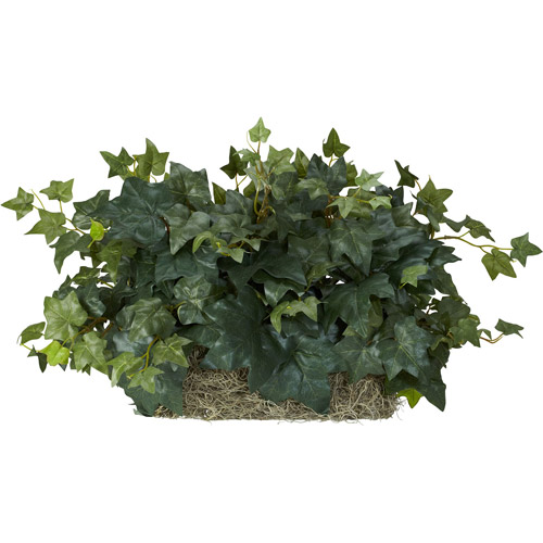 Nearly Natural Ivy Ledge Plant Silk Plant on Foam