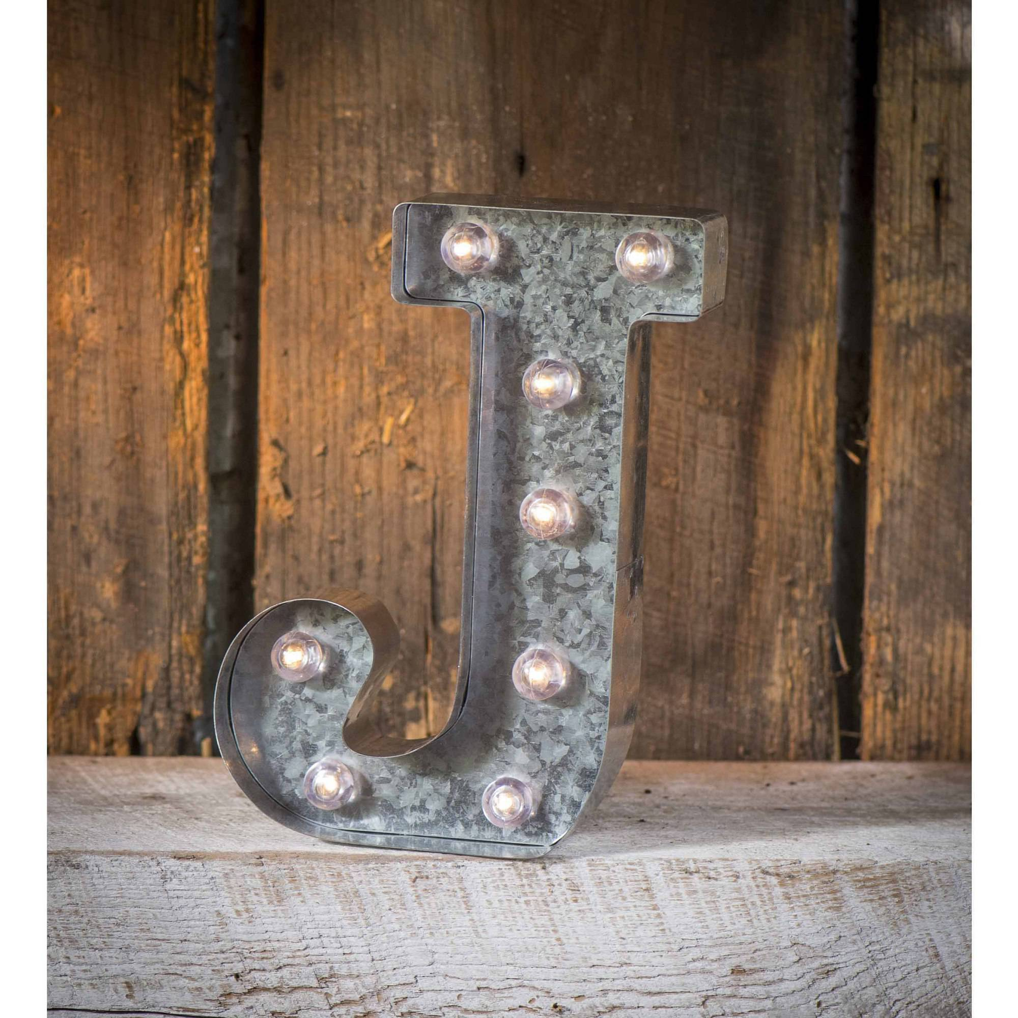 Light-Up Marquee Letter J