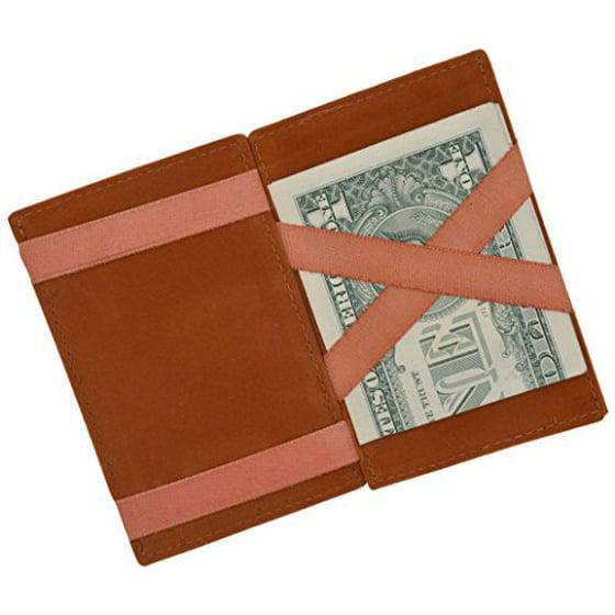 bf6bacf1c698 Moga Men's Fashion Magic Money Clip Genuine Leather Minimalistic Slim  Wallet (Tan)