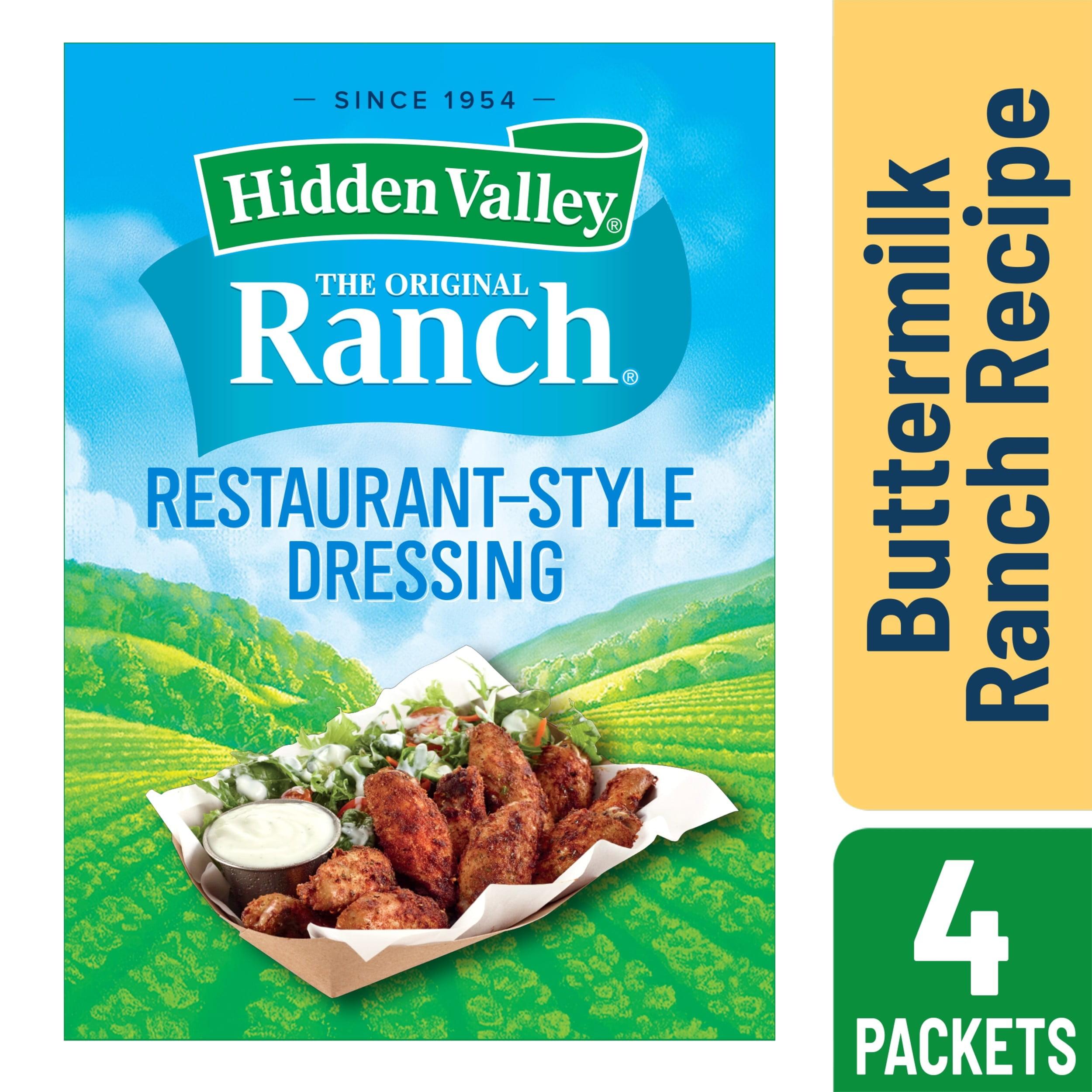 Hidden Valley Buttermilk Ranch Salad Dressing & Seasoning Mix, Gluten Free - 4 Packets