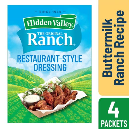 Hidden Valley Buttermilk Ranch Salad Dressing & Seasoning Mix, Gluten Free - 4 Packets