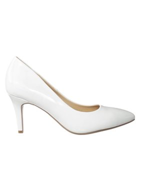 Coen by City Classified, Super Comfortable Foam Pad Insole Pointed Toe Low Heel Classic Dress Pump