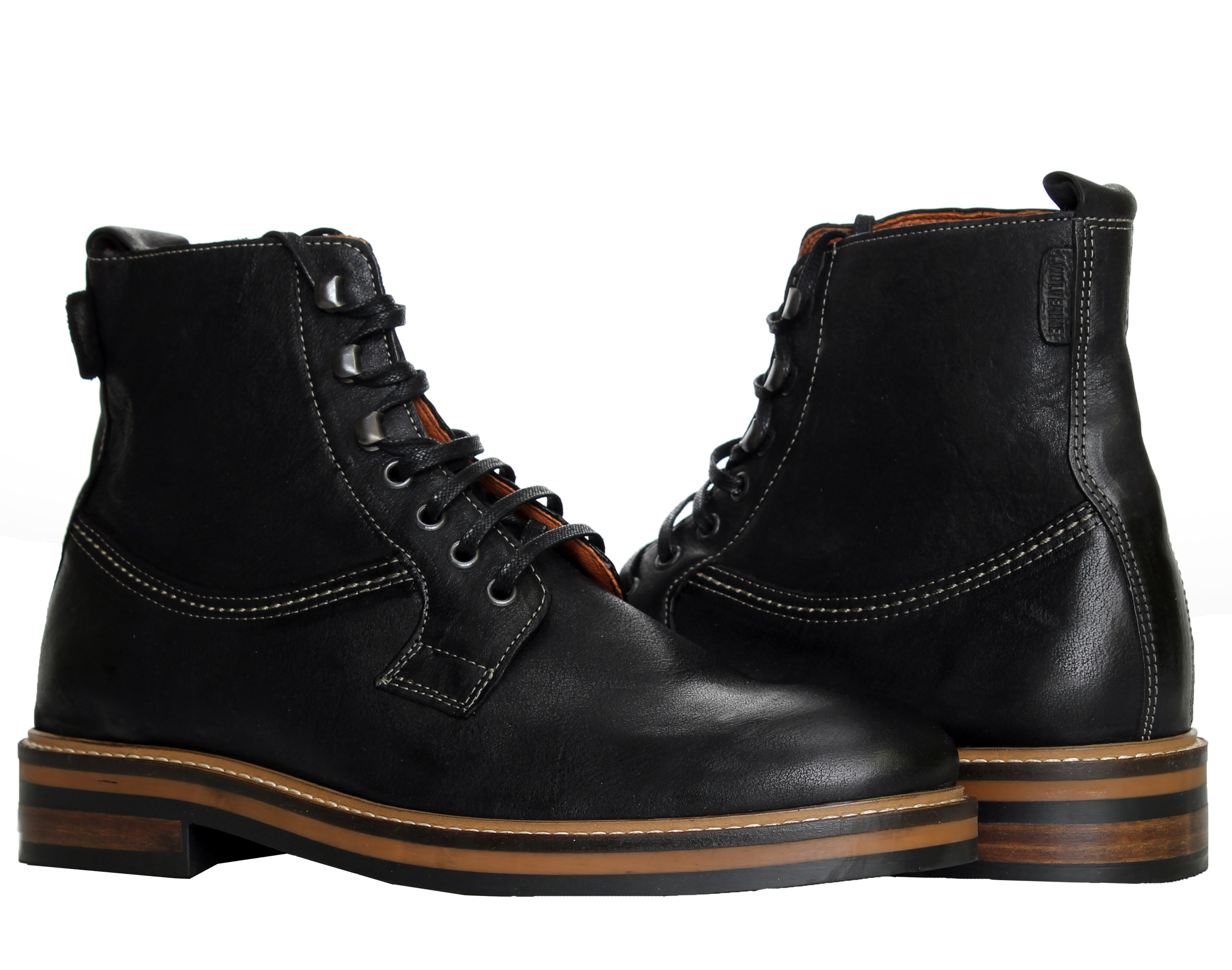 1883 by Wolverine Ramon Plain-Toe Black Men's Boots W00770 by 1883 by Wolverine