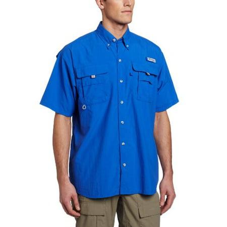 Columbia Men's Bahama II Short Sleeve Shirt (XX-Large, Vivid Blue) - Columbian Blue