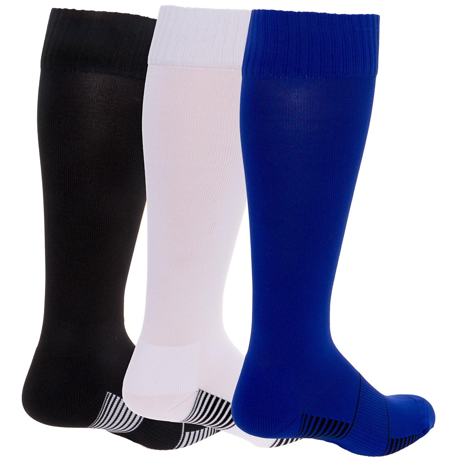 LISH 3 Pack Mens Elite Football Socks Athletic Over-The-Calf Sport Socks