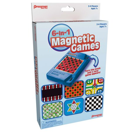 Pressman 6-in-1 Travel Magnetic Games
