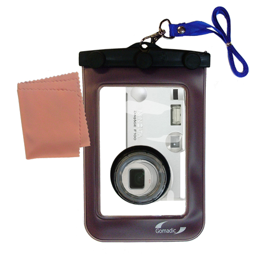 Gomadic Waterproof Camera Protective Bag Suitable For The Minolta Di Mage F100  -  Unique Floating Design Keeps Camera Clean And Dry