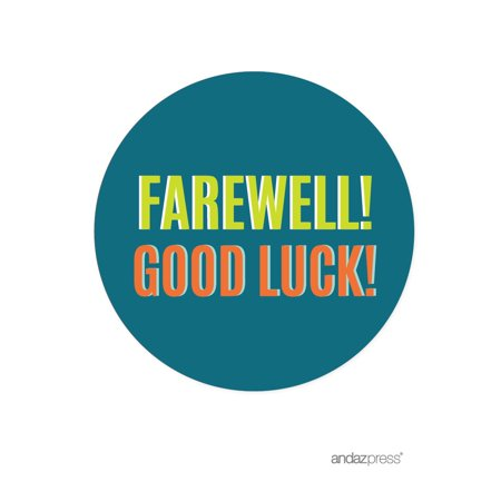 Farewell Retirement Party Decorations, Farewell! Good Luck!, Round Circle Label Stickers, 40-Pack](Retirement Decorations Ideas)