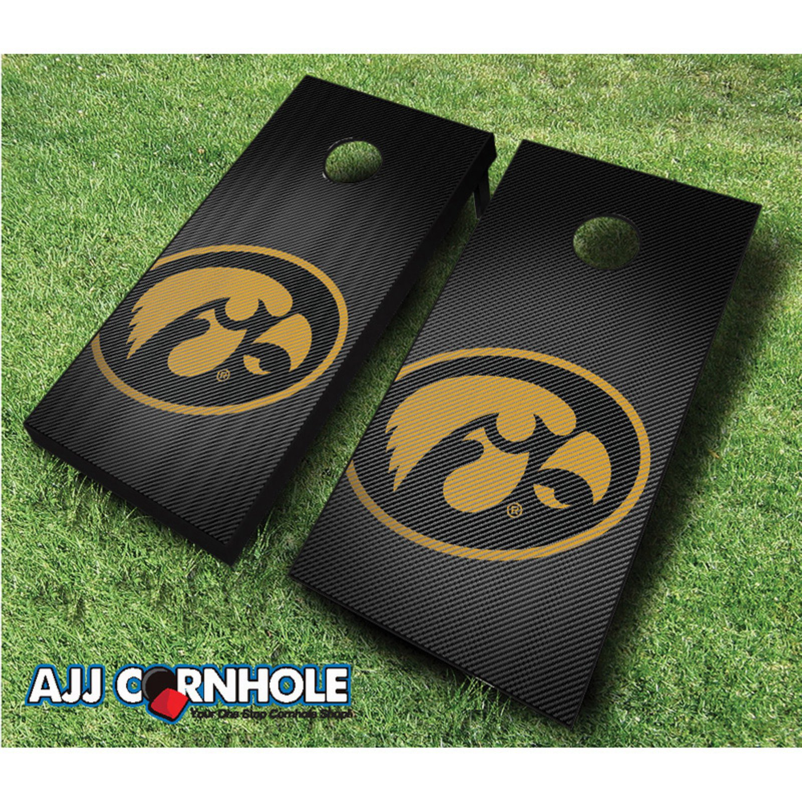 AJJ Cornhole Iowa Slanted Cornhole Set by