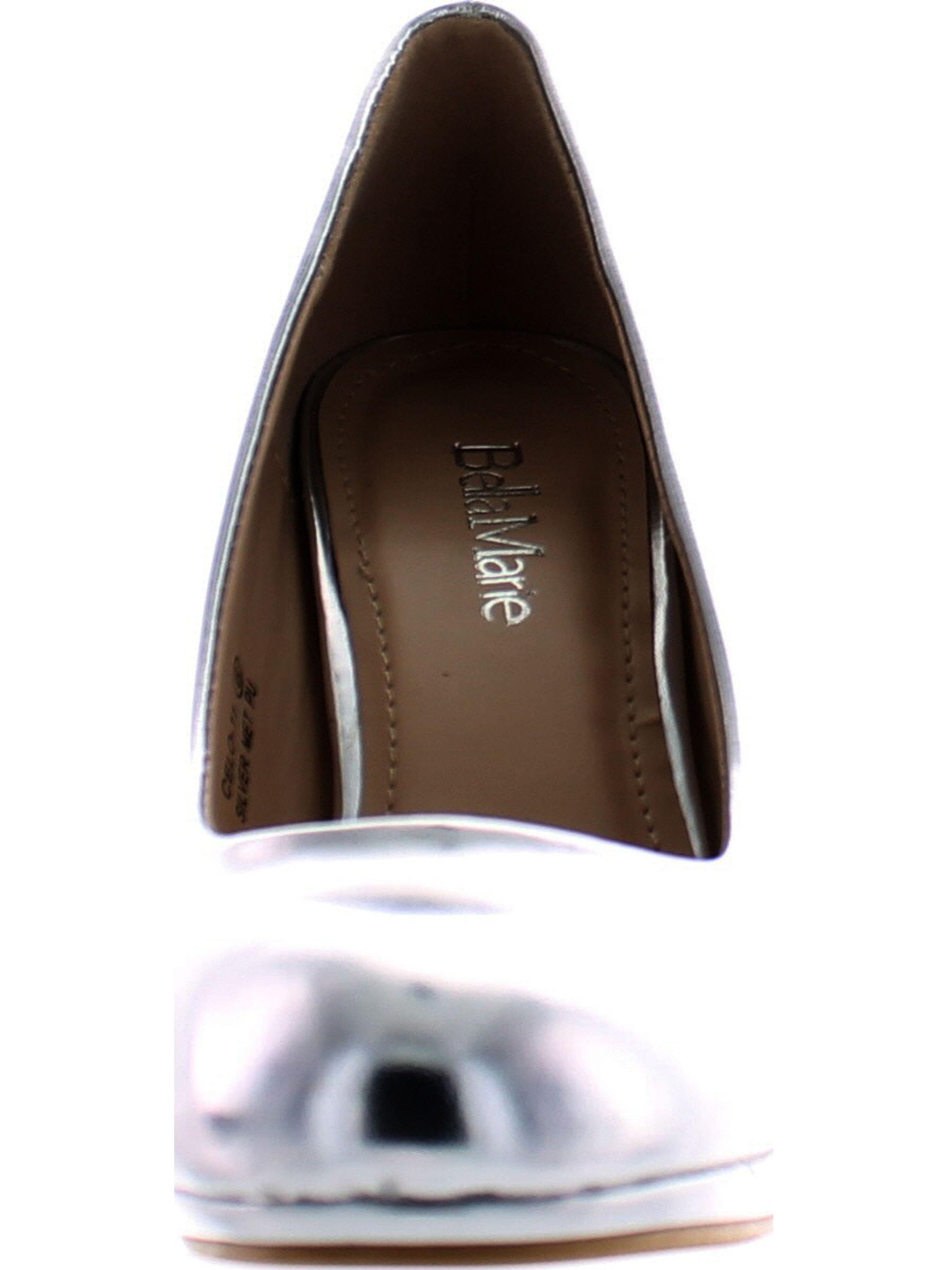 Bella Marie Celo-11 Women's almond toe platform multi color patent high heel stilettos shoes