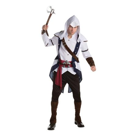 Morris Costume LF6478LG Assassins Creed Connor Adult Costume, (Assassin's Creed Cosplay Costume For Sale)