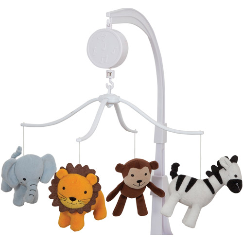 Bedtime Originals by Lambs & Ivy Jungle Buddies Musical Mobile, Brown