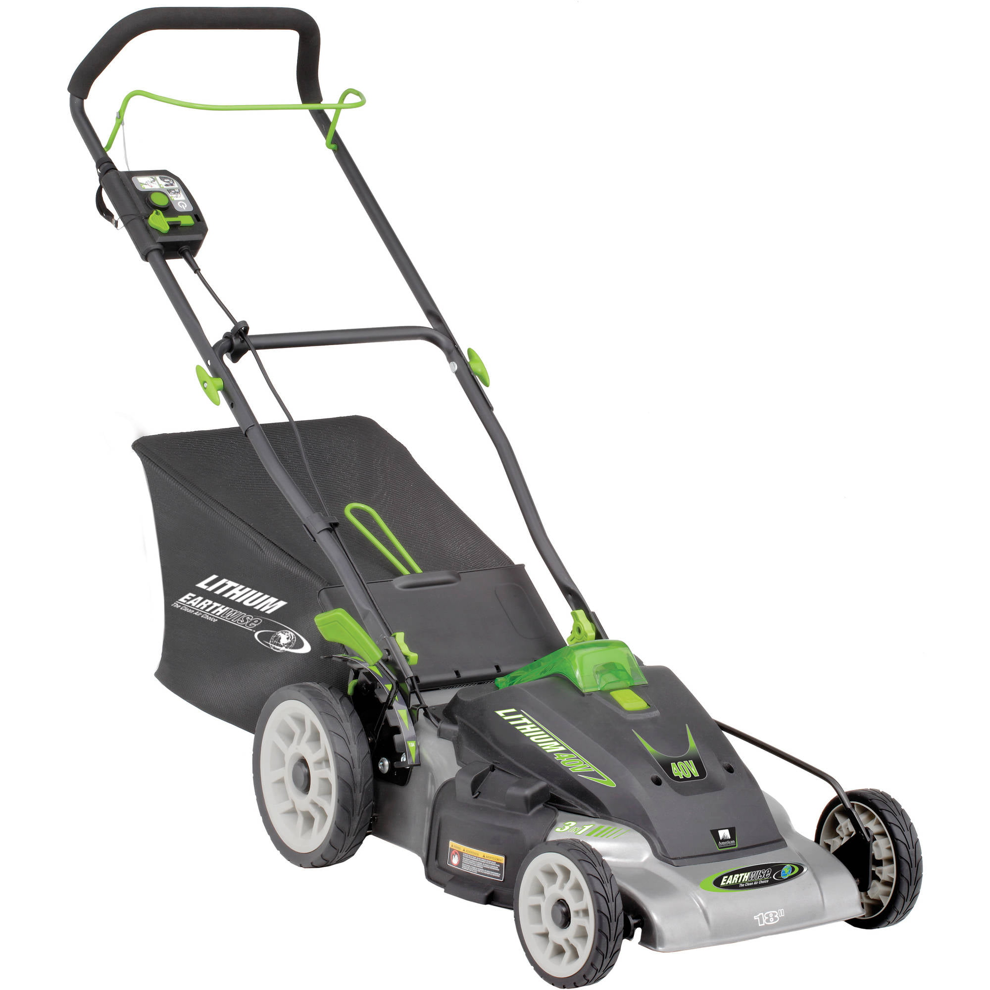 "Earthwise 60418 18"" 40-Volt Lithium Ion Cordless Electric Lawn Mower (Battery and charger included) by Great States Corporation"