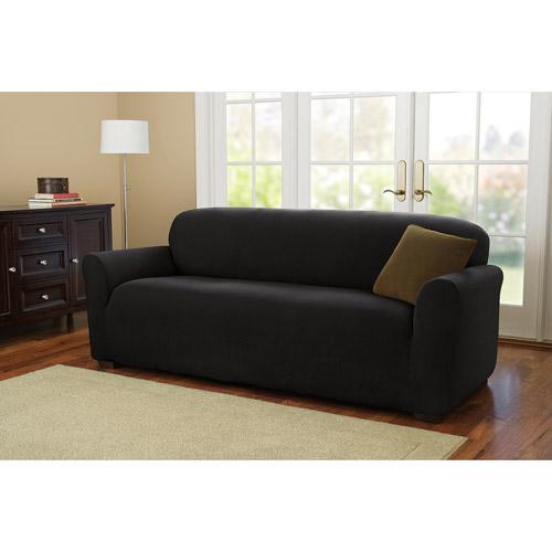 Better Homes&gardens Bhg Stretch Pearson Rich Black Sofa