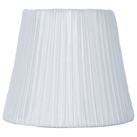 Chandelier Pleats Shade - Urbanest Box Pleated Chandelier Lamp Shade, Off White, 3x6x5