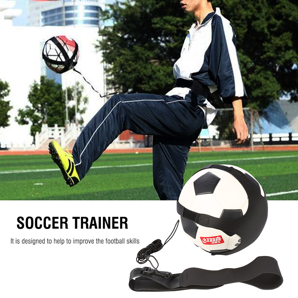 Details about  /Football Kick Trainer Solo Soccer Practice Training Aid for Size 3 4 5 Football