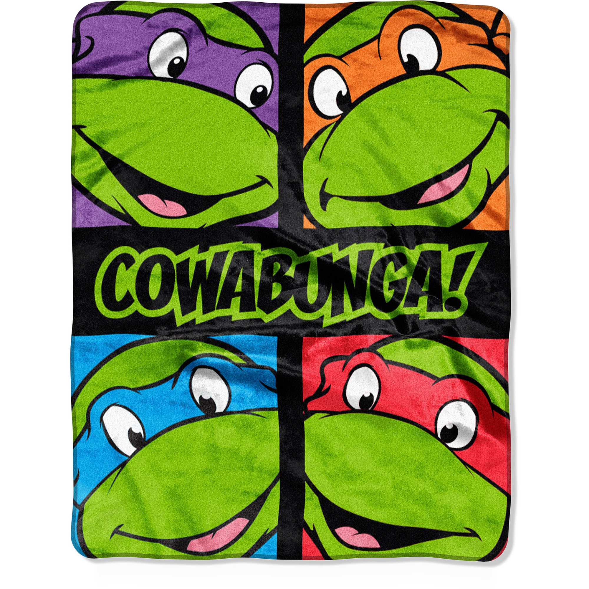 "Nickelodeon Teenage Mutant Ninja Turtles Total Dudes 40"" x 50"" Silk-Touch Throw"