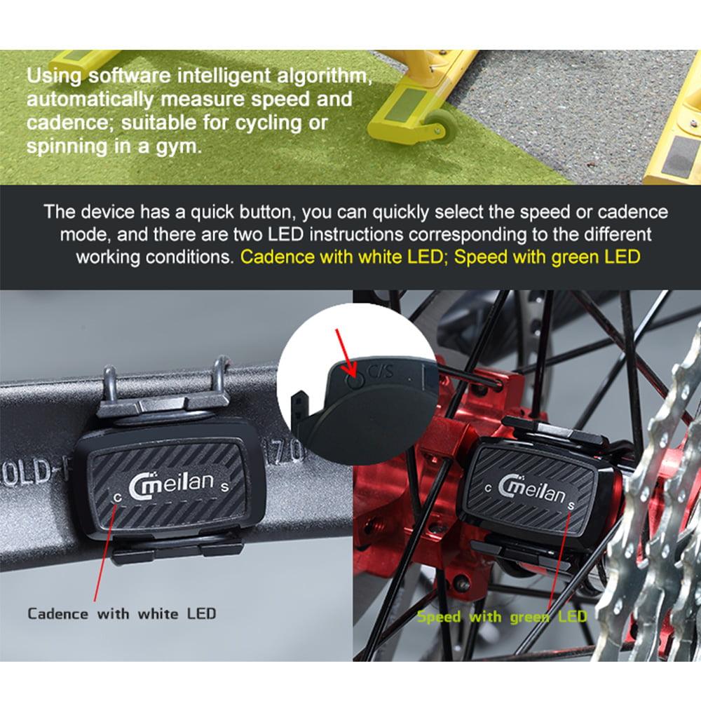 Meilan C1 BT Spinning Bike Speed & Cadence Sensor Training Waterproof IPX5