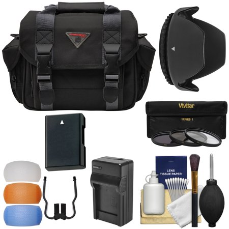Essentials Bundle for Nikon D3200 D3200, D3300, D5200, D5300, D5500 Camera & 18-55mm VR Lens with Case + Battery & Charger + 3 (UV/CPL/ND8) Filters + Hood + Kit