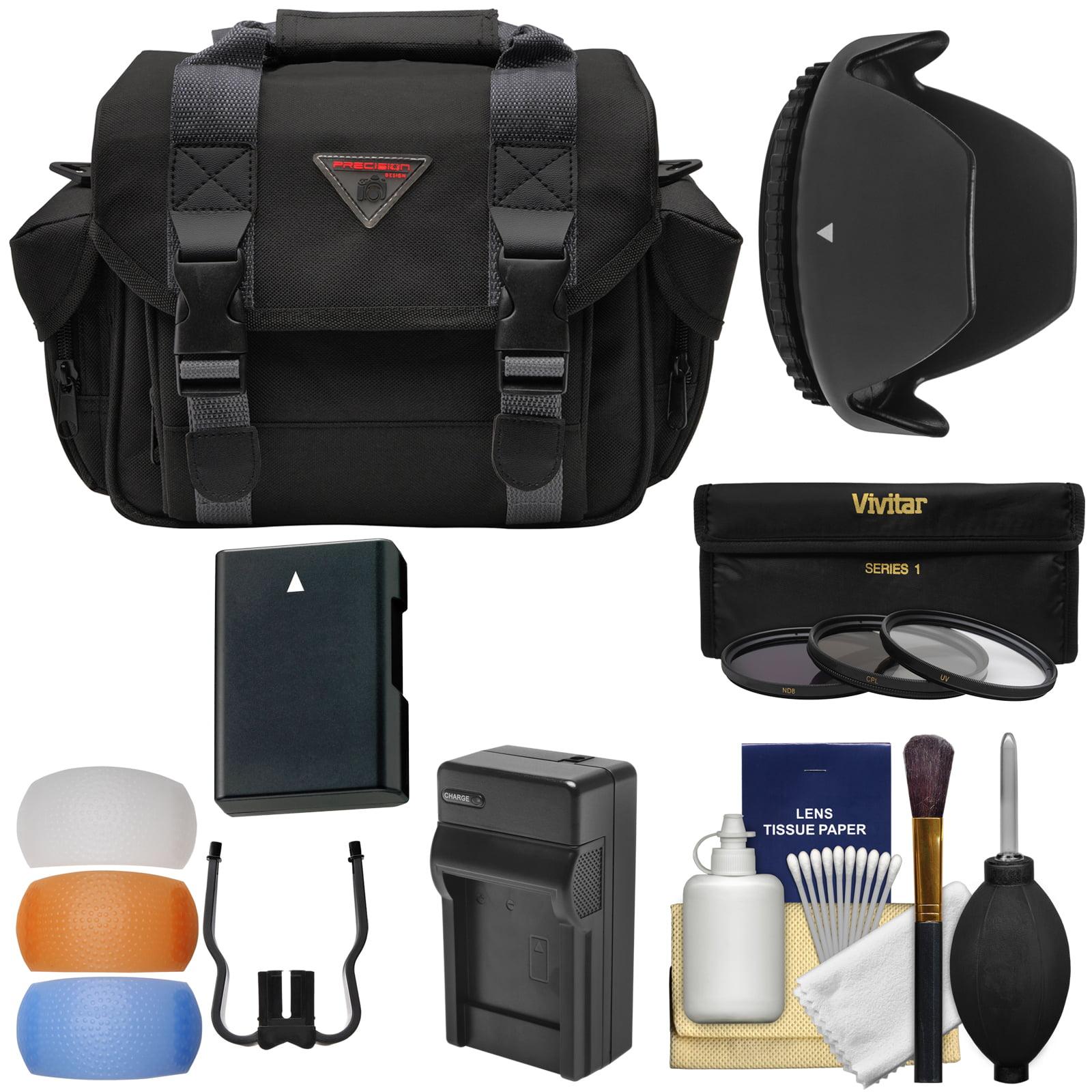 Essentials Bundle for Nikon D3200 D3200, D3300, D5200, D5300, D5500 Camera & 18-55mm VR Lens with Case + Battery & Charger + 3 (UV/CPL/ND8) Filters + Hood + Kit
