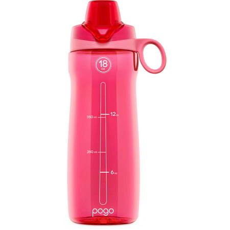 Pogo BPA-Free Plastic Water Bottle with Chug Lid, 18