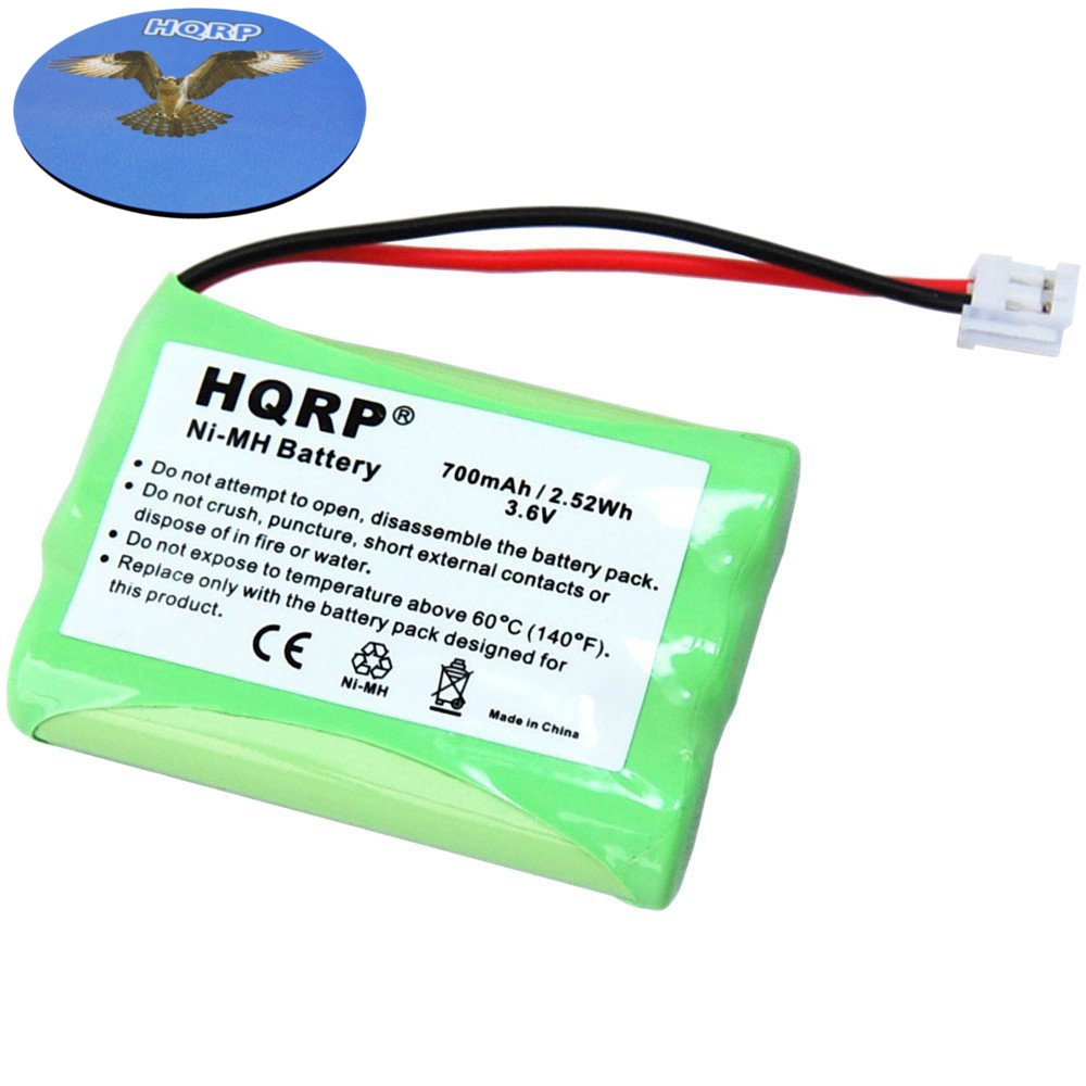 HQRP Cordless Phone Battery for General Electric GE 5-2522 / 52522 VONAGE h-aaa550bx Thomson Replacement plus Coaster