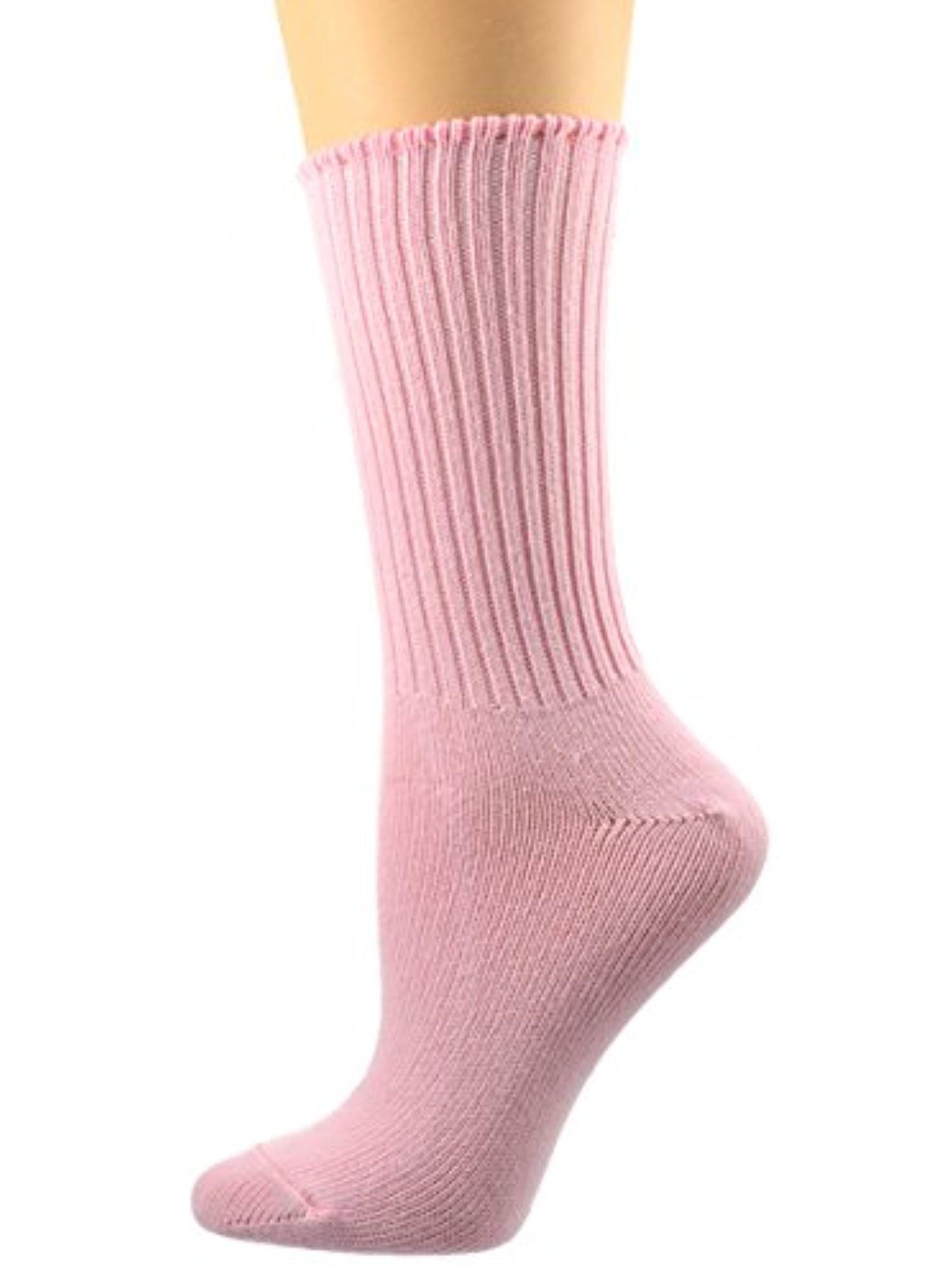 Sierra Socks Women's Organic Cotton Seamless Toe Crew 3 Pair Pack (Fits Shoe Size 4-10 Socks Size 9-11, Black)
