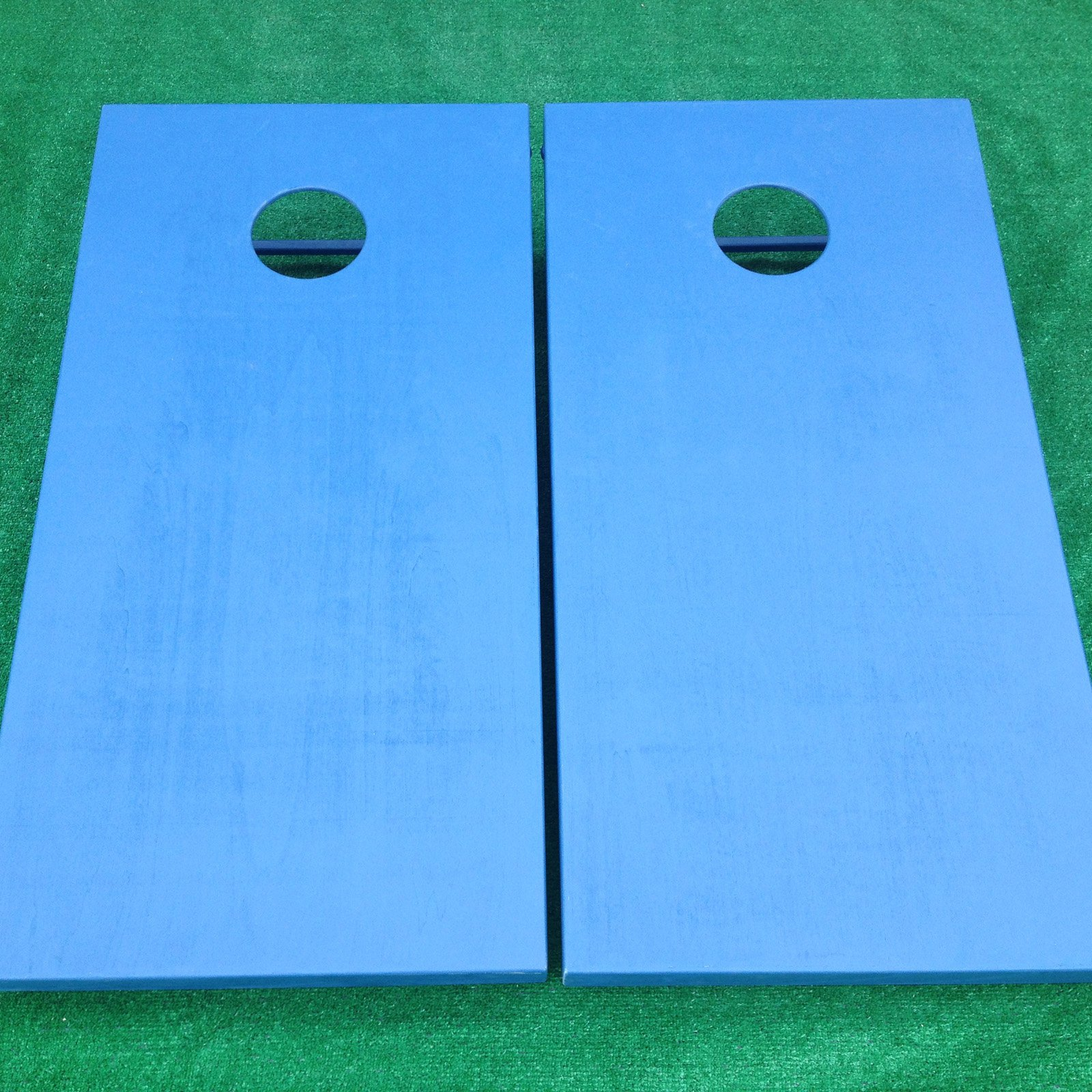 Painted Tournament Wooden Cornhole Bean Bag Toss Set - Navy Blue - Baby Blue & Maroon