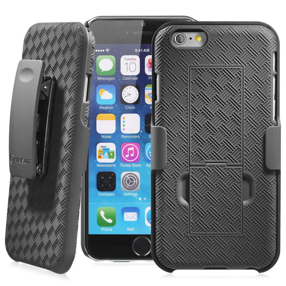 Minisuit Clipster Kickstand Holster Case + Belt Clip for iPhone 6, 6S