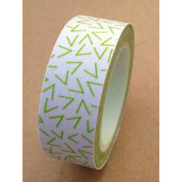 Love My Tapes Washi Tape 15mmX10m-White W/Lime Vs
