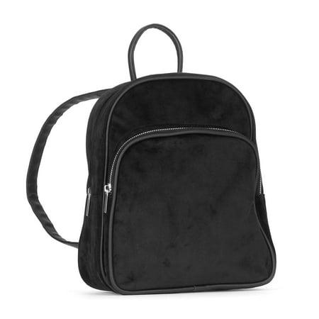 5793b231691 No Boundaries - Women s Velvet Mini Backpack - Walmart.com