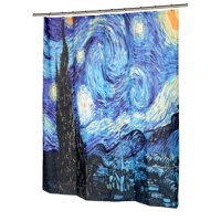 Product Image The Starry Night Museum Collection 100 Polyester Fabric Shower Curtain Size 70