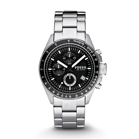 Fossil Men's Decker Silver Tone Stainless Steel Chronograph Watch (Style: CH2600IE)