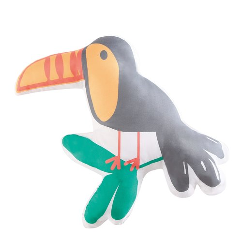 Zoomie Kids Hollowell Hanging Out Toucan Throw Pillow
